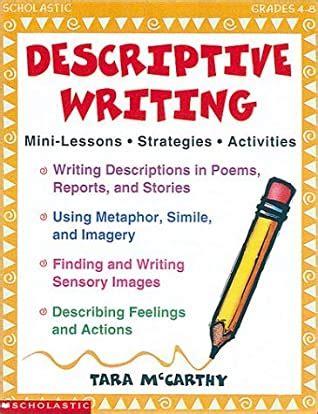descriptive writing mini lessons strategies activities