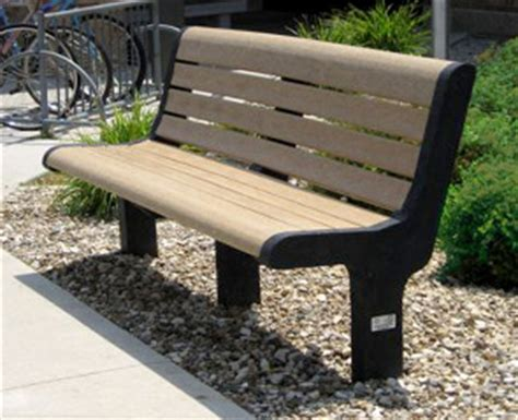 Malibu Memorial Benches  Recycled Plastic  Park Benches