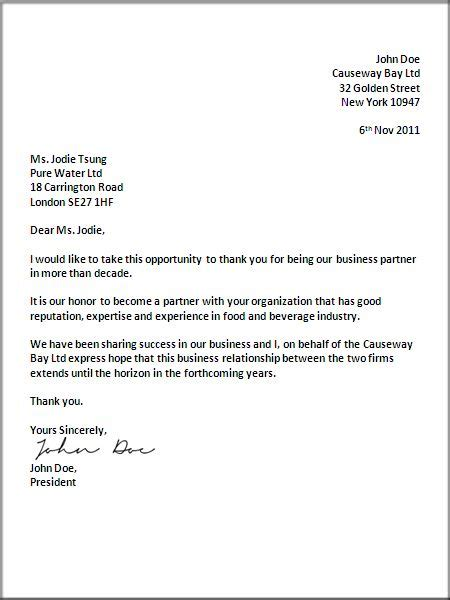 uk business letter format letter pinterest writing