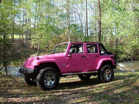 wrangler jeep pink pink 4 door jeep wrangler a country girls world pinterest