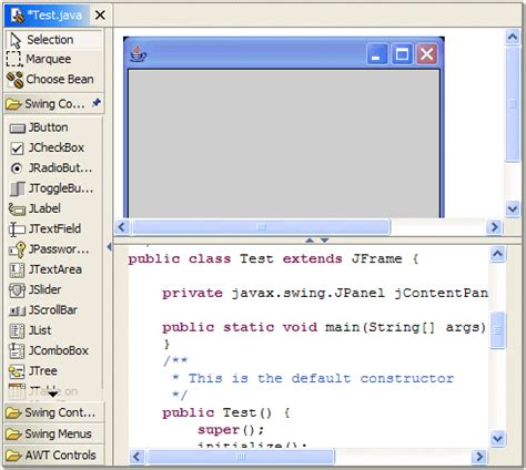 Eclipse Swing Editor Eclipse Visual Editor Projectで Guiを作成