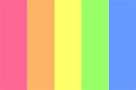 bright color palette light bright rainbow color palette