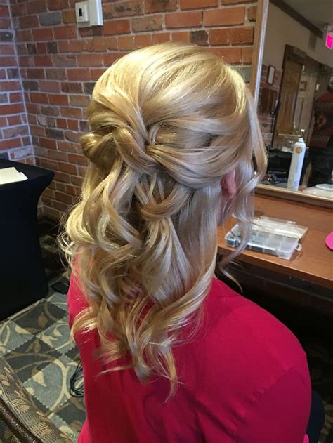 half up half down wedding hair for bride or mother of the