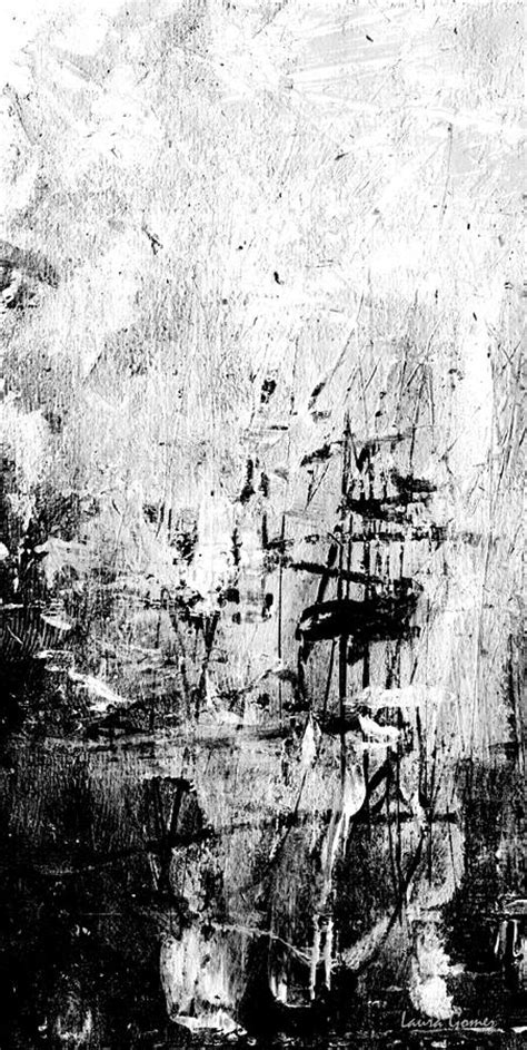 Abstract Painting Black And White by Memories Black And White Abstract By Gomez