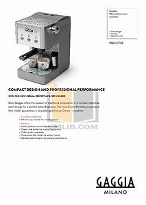 Download Free Pdf For Gaggia Xd Compact Coffee Maker Manual