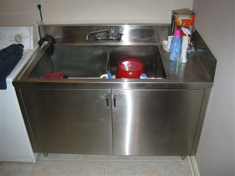 menards stainless steel utility sink laundry tub with cabinet canada imanisr