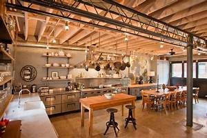 Ceiling shelves kitchen industrial with metal pole island