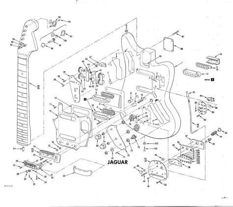 Fender Jaguar Exploded View Drawings
