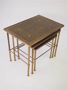 Vintage, Nest, Of, Brass, Tables, For, Sale