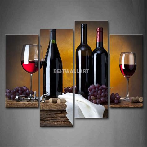 online get cheap wine bottle kitchen decor grapes