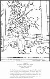 Coloring Cezanne Paul Dover Clipart Publications Paintings Doverpublications Adult Masterworks Sheets Printable Own Welcome Vase Samples Colorful Clipground History Flower sketch template