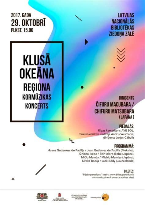 Klusā okeāna reģiona kormūzikas koncerts Latvijas ...