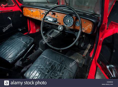 Triumph Herald Coupe Classic British Car Interior Stock