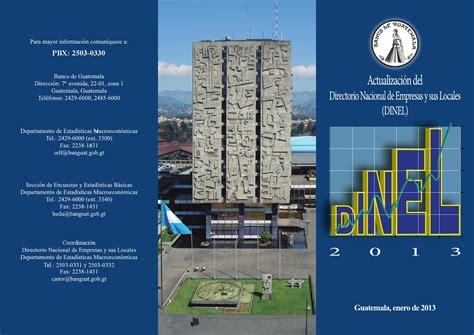 Trifoliar informativo DINEL by Banco de Guatemala - Issuu