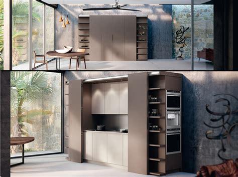 placard cuisine but une cuisine cachée dans un placard décoration