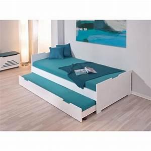 Lit Ikea Avec Tiroir : lit gigogne avec tiroir 200x90 enfant double couch achat vente lit gigogne lit gigogne avec ~ Mglfilm.com Idées de Décoration