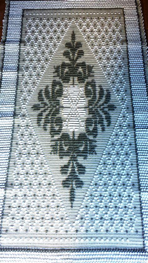 tappeto in cotone tappeto in puro cotone al telaio giglio bianco e grigio