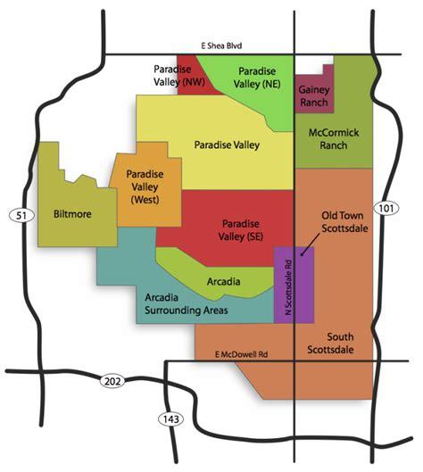 map  neighborhoods south scottsdale az real estate