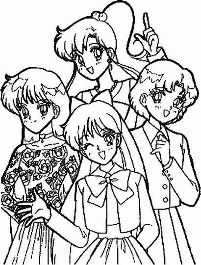 Coloring Sailor Moon Pages Cartoon Characters Ultraman