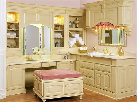 sink bathroom vanity with makeup table photos hgtv