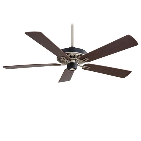 60 ceiling fans with light and remote minka aire f672 mbk bn iconic black nickel 60 quot ceiling fan