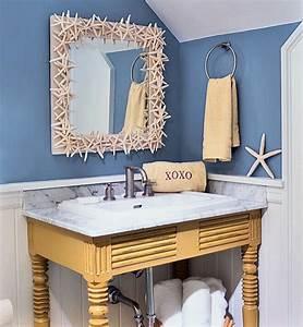 Art wall decor in beach bathroom theme home interiors