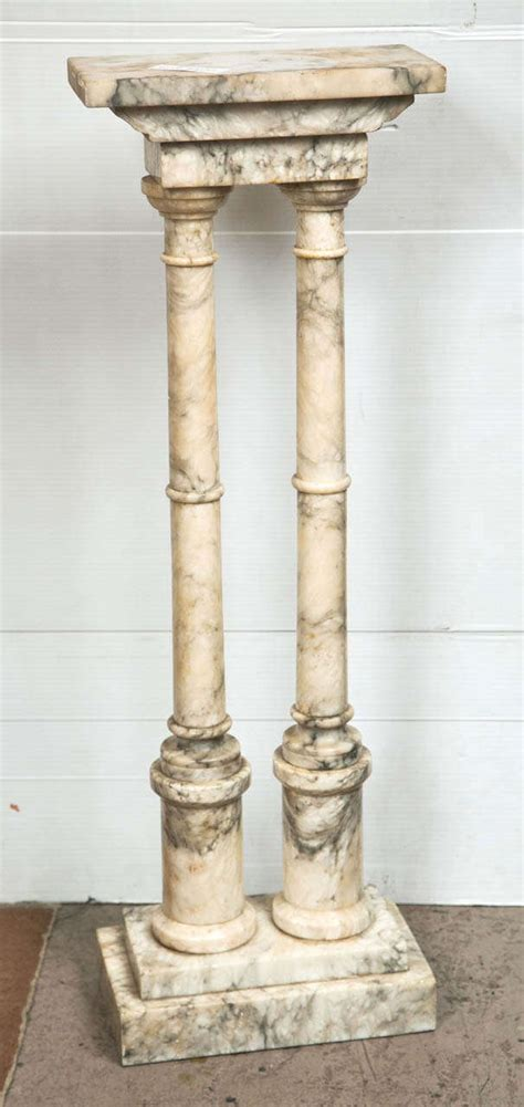 Pedestal Building by Neoclassical Style Marble Column Pedestal At 1stdibs