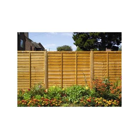 lap double framed overlap fence panel