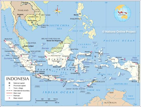 political map  indonesia nations  project