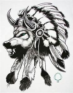Native american, wolf, headdress. | Future tattoos ...