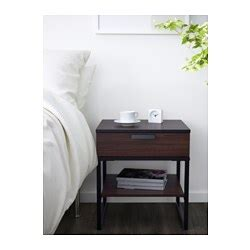 ikea trysil nightstand trysil bedside table brown black 45x40 cm ikea