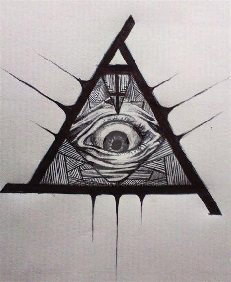 one eye illuminati illuminati all seeing eye pencil and in color
