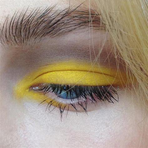 pin  amanda lmao  yelloh eye makeup makeup yellow