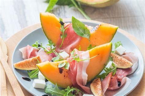 recettes cuisine grecque salade estivale au melon jambon figues fraîches cuisine addict de cuisine et coloré