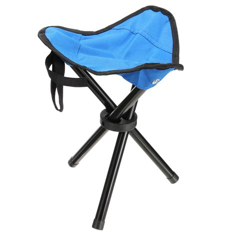 portable folding travel 3 leg chair stool seat outdoor