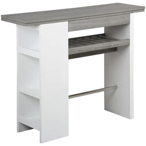 bar rangement cuisine table de bar avec rangement en mdf l 1400 x p achat