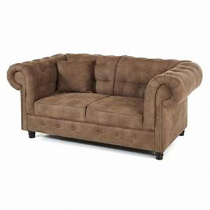canape 2 places chesterfield couleur taupe With canapé 2 places taupe