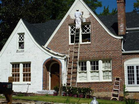 How To Paint The Exterior Of A Brick House  Dengarden