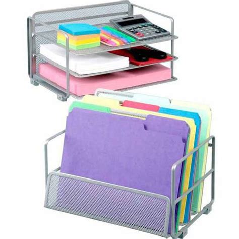 seville classics mesh desk wall organizer set of 2