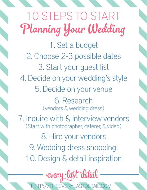 Newly Engaged? 10 Steps To Start Planning A Wedding