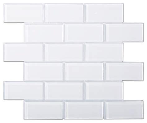12 quot x12 quot brilliant white glass mosaic subway tile single
