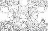 Coloring Triple Goddess Lht6 Fbcdn Scontent Xx Printable sketch template