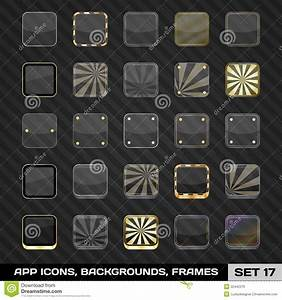 Set Of App Icon Frames, Templates, Backgrounds. Set 17 ...