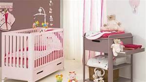 Beautiful chambre fille rose et taupe photos seiunkelus for Chambre bebe fille rose