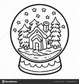 Kleurplaat Snowball Kinderen Voor Huis Boek Stockillustratie Sneeuwbal Winter Ksenya Savva Depositphotos sketch template