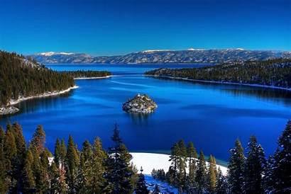 Tahoe Lake Usa California Lakes Places States