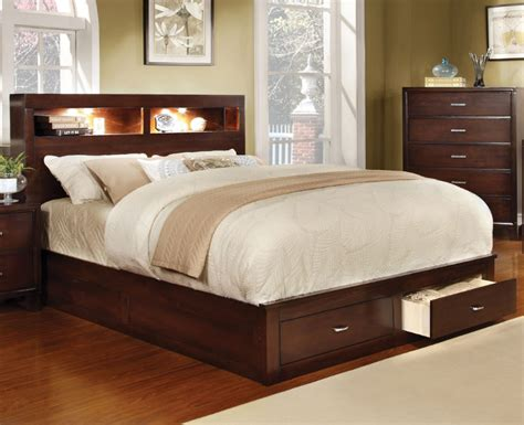 bed with bookcase footboard gerico platform bed w bookcase headboard and storage