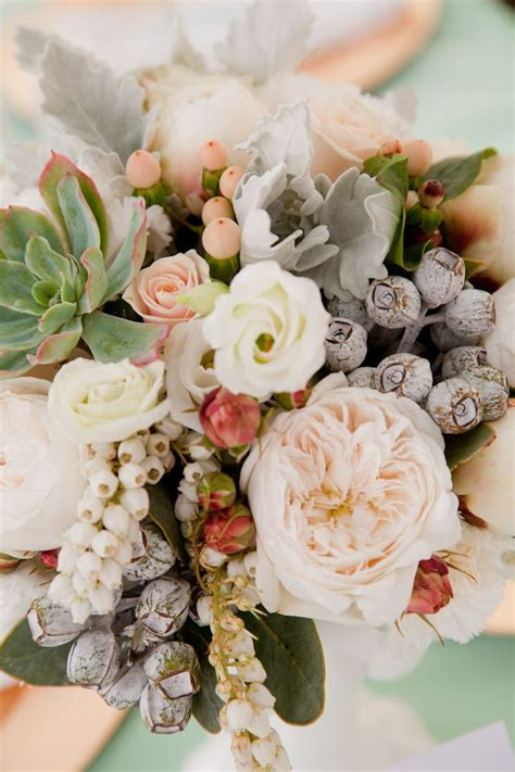grey  peach wedding bouquetspeach wedding bridal bouquet