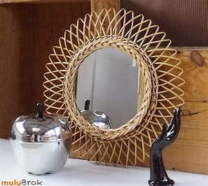 Grand Miroir Vintage : d co vintage grand miroir soleil mulubrok brocante en ligne ~ Teatrodelosmanantiales.com Idées de Décoration