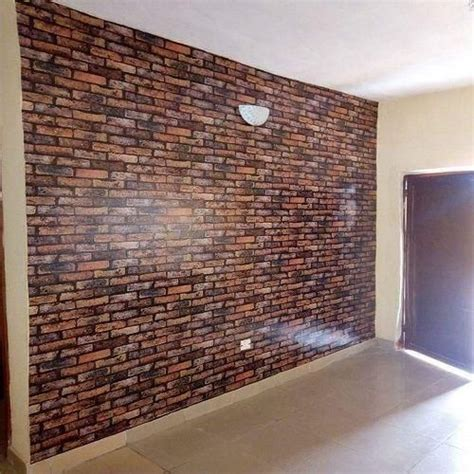 universal  effect brick wallpaper brown price